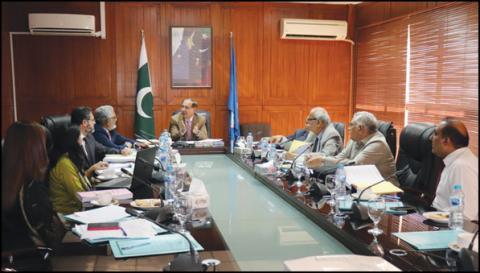 Prof. Dr Arshad Javaid VC KMU chairing the Journals Committee meeting held at the PM&DC offices  at Islamabad on October 27th 2018.
