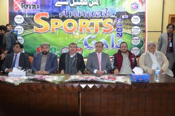 02.Former World Squash Champion Qamar Zaman and VC KMU Prof Dr Arshad Javed along with others during Inaugural Ceremony of KMU 3rd Sports Gala 2017 (Custom)1513065080.JPG