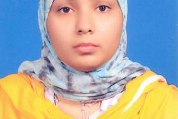 Fehmida Arif..Third Position